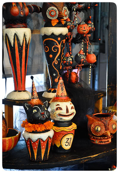 How to get in the halloween spirit halloween for all for Antique halloween decoration